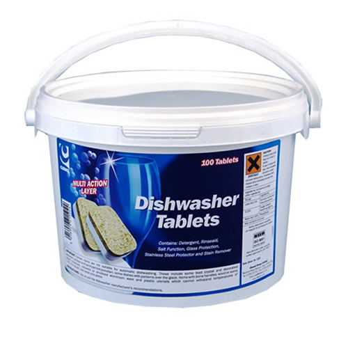 6 in 1 Dishwasher Tablets- Tub of 100