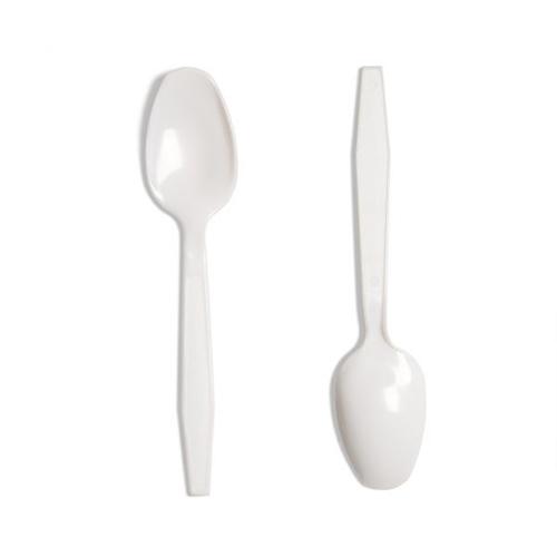 Disposable Tuzcani White Plastic Coffee Spoons - 2000-0