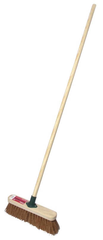 "12"" Stiff Broomhead C/W Handle - Single"