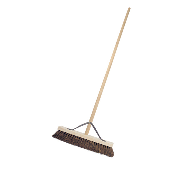 "18"" Stiff Broomhead C/W Handle & Stay - Single"