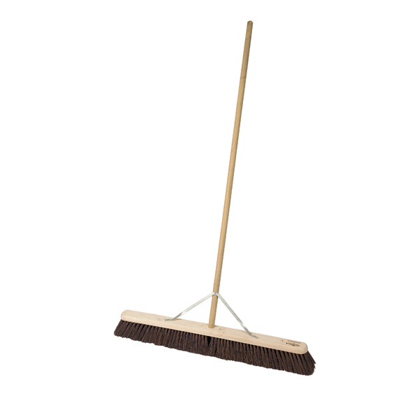 "36"" Stiff Broomhead C/W Handle & Stay - Single"