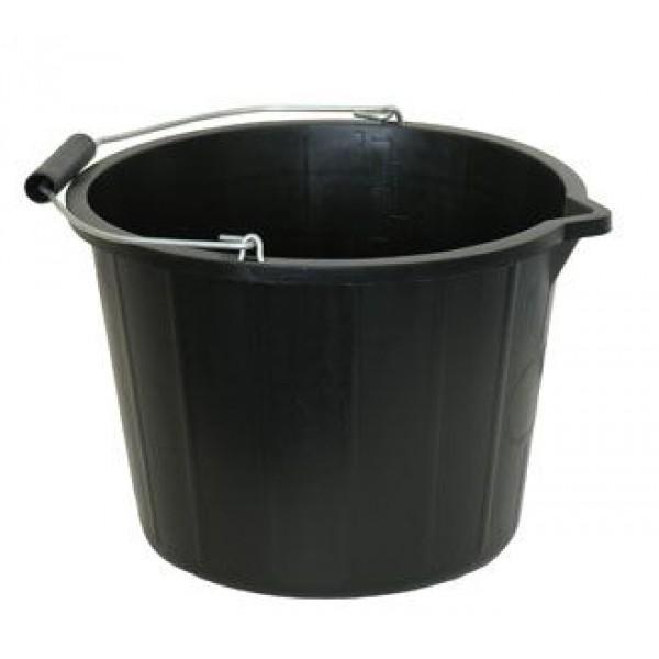Black 15L Builders Bucket -Single