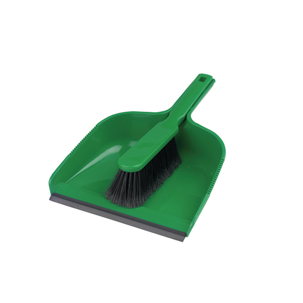Stiff Dustpan & Brush - Single