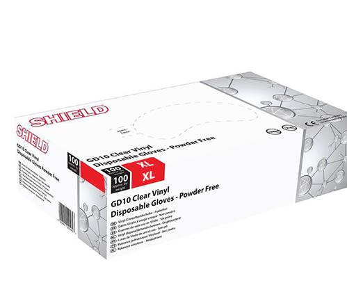 Extra Large Powder Free Vinyl Gloves GD10 - Box of 100