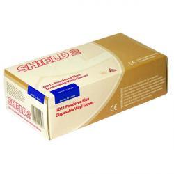 Large Blue Vinyl Powdered Gloves GD11 - Box of 100