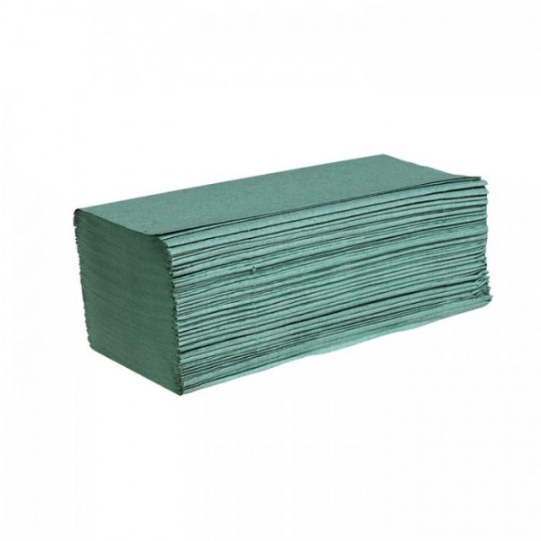 Green Interfold 1-Ply Hand Towel - Case of 5000