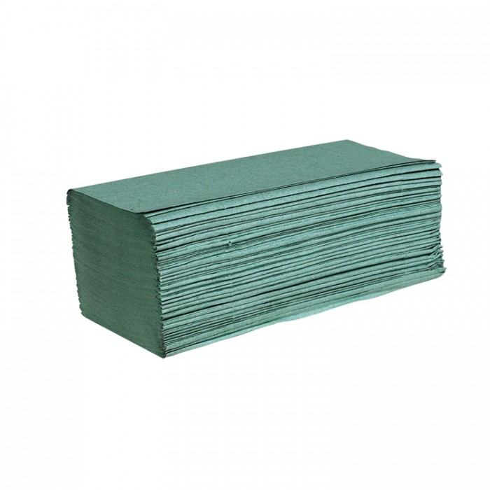 Green Interfold 1-Ply Hand Towel – Case of 5000