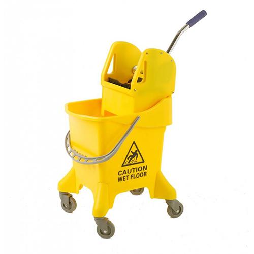 Kentucky Mop Bucket on Castors C/W Wringer - Single