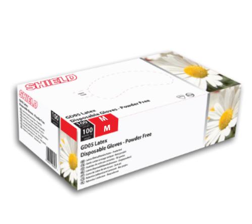 Medium Powder Free Latex Gloves GD05 - Pack of 100-0