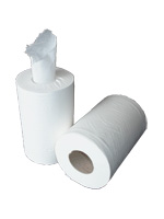 White 2-Ply 65m Mini Centrefeed Rolls - Case of 12