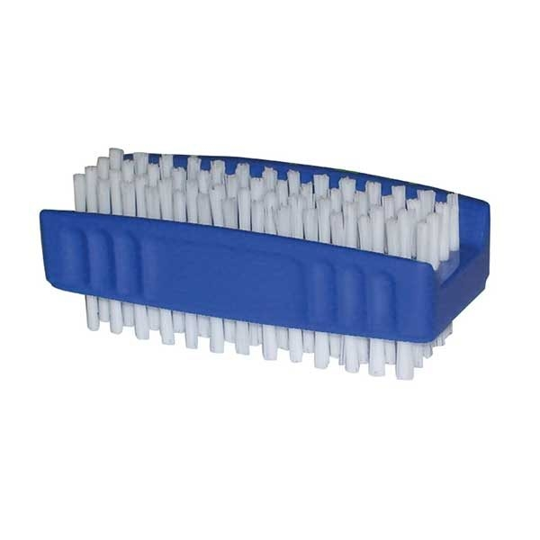 White Plastic Nail Brush - Single-0