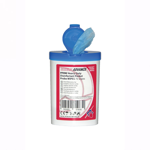 Shield Heavy Duty Disinfectant Probe Wipes - Case of 10