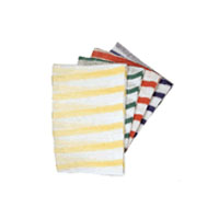 Green Striped Stockinette Cloths - Pack of 10