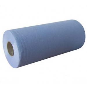 "Blue 10"" 2-Ply Wiper Roll - Case of 24"