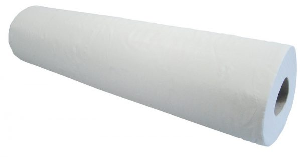 "White 20"" 2-Ply Wiper Roll - Case of 9"
