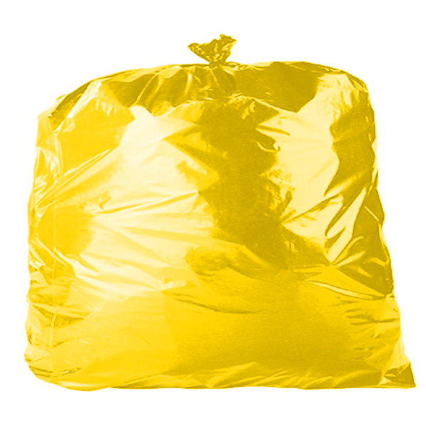 "Yellow 18"" x 29"" x 39"" Refuse Sacks (C12C)"