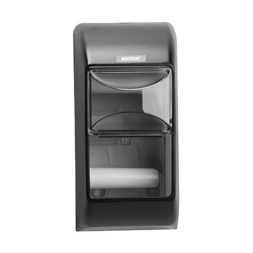 Katrin Black Toilet 2-Roll Dispenser - 104452
