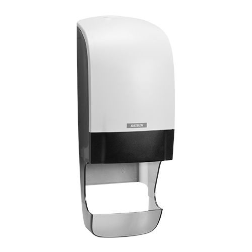 Katrin Inclusive White System Toilet Dispenser With Core Catcher - 90144