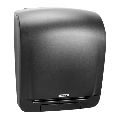 Katrin Inclusive Black System Towel Dispenser - 92025