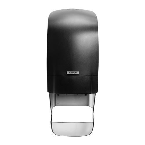 Katrin Inclusive Black System Toilet Dispenser With Core Catcher - 92049