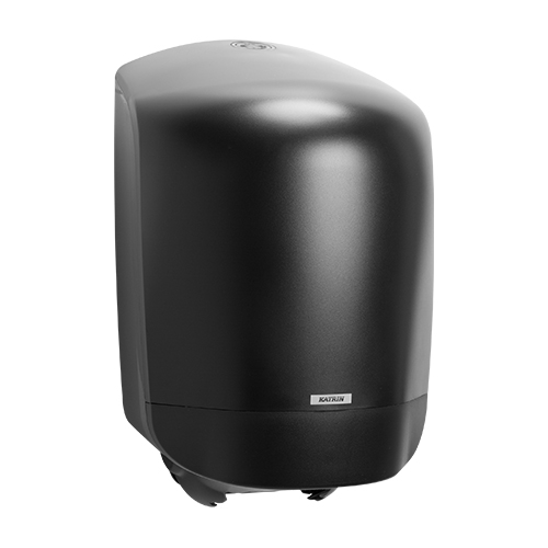 Katrin Inclusive Black Centerfeed M Dispenser - 92124