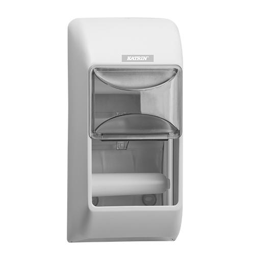 Katrin White Toilet 2-Roll Dispenser - 92384