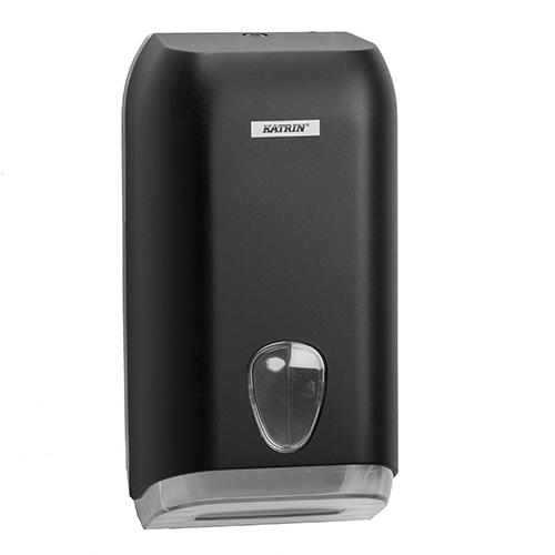 Katrin Black Folded Toilet Tissue Dispenser - 92605