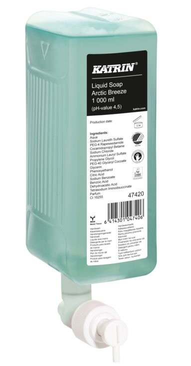 Katrin Handwash Soap 47420 Arctic Breeze - 6 x 1000ml-0