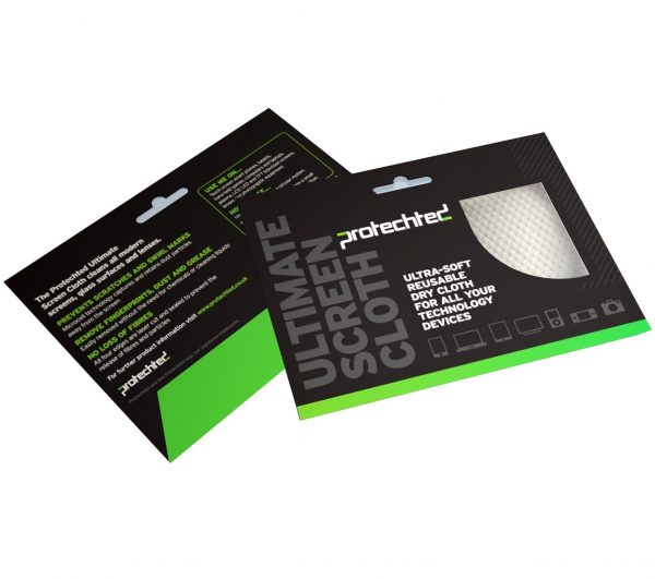 Protechted Microfibre Screen Cleaning Cloth