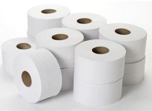 "Mini Jumbo Pure 200m 2.25"" Core Toilet Roll - Case of 12-0"
