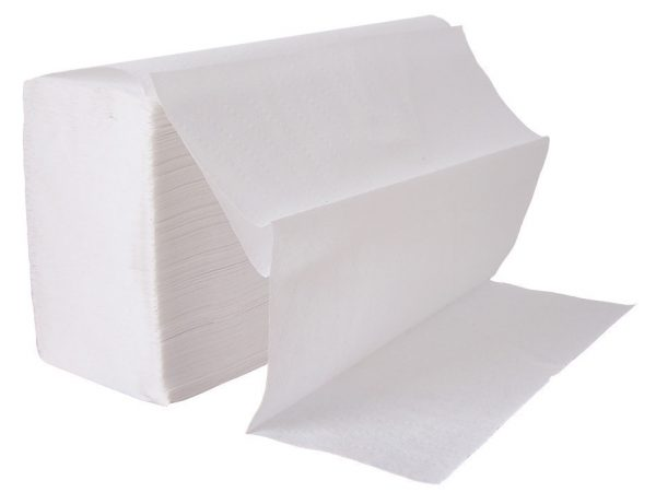 White Interfold 2-Ply Hand Towel - Case of 3200-0