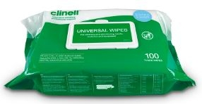 Clinell Hand & Surface Disinfectant Wipes - 100 Wipes-0