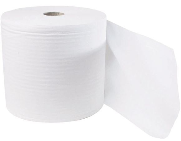 Industrial Wiper Roll 2-Ply White 28cm x 400m - Case of 2-0