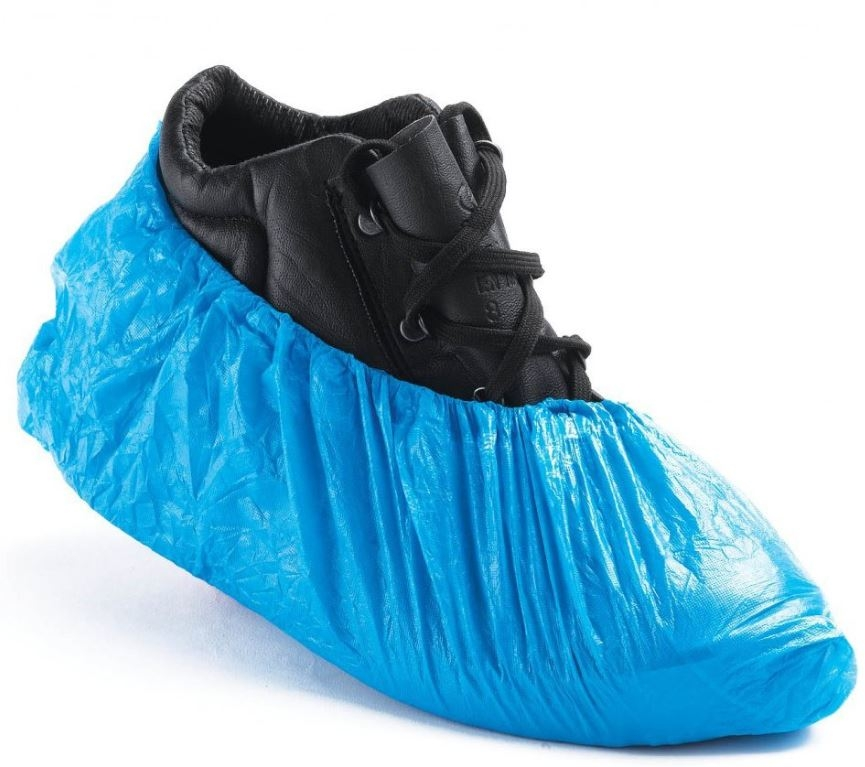 """Blue 14"""" Overshoe Covers x 100-0"""